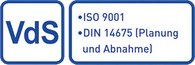 VdS ISO 9001 DIN 14675 (Planung und Abnahme)